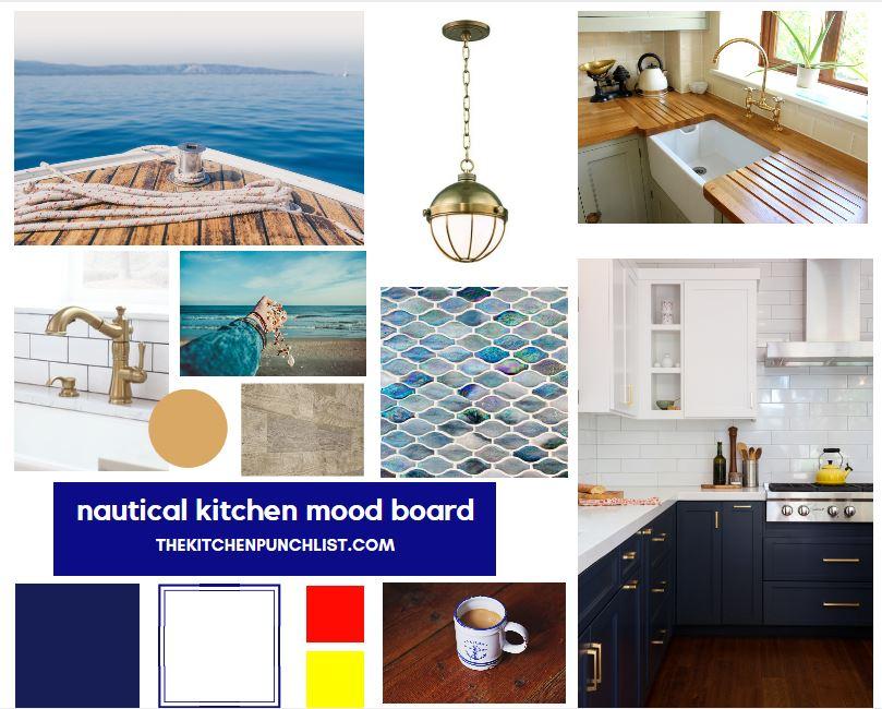 nautical kitchen mood board