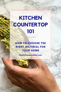 Kitchen countertop basics- how to choose the right material for you