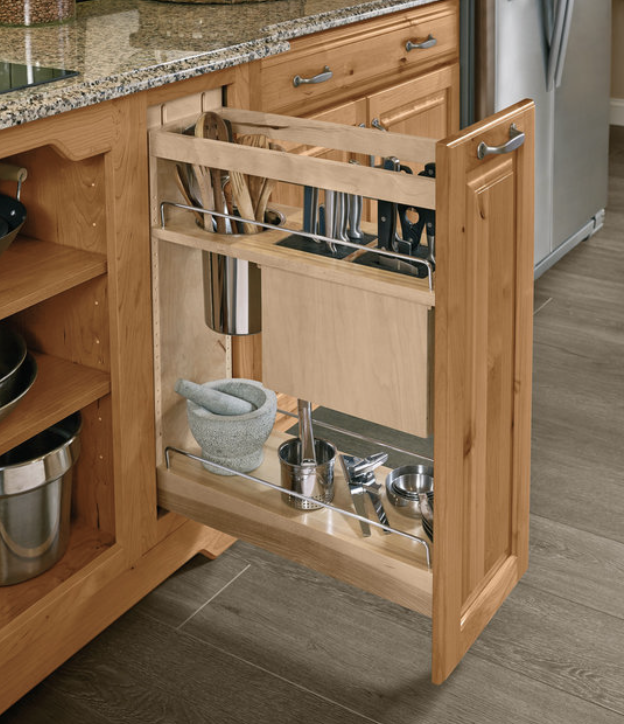 KraftMaid utensil pull out cabinet