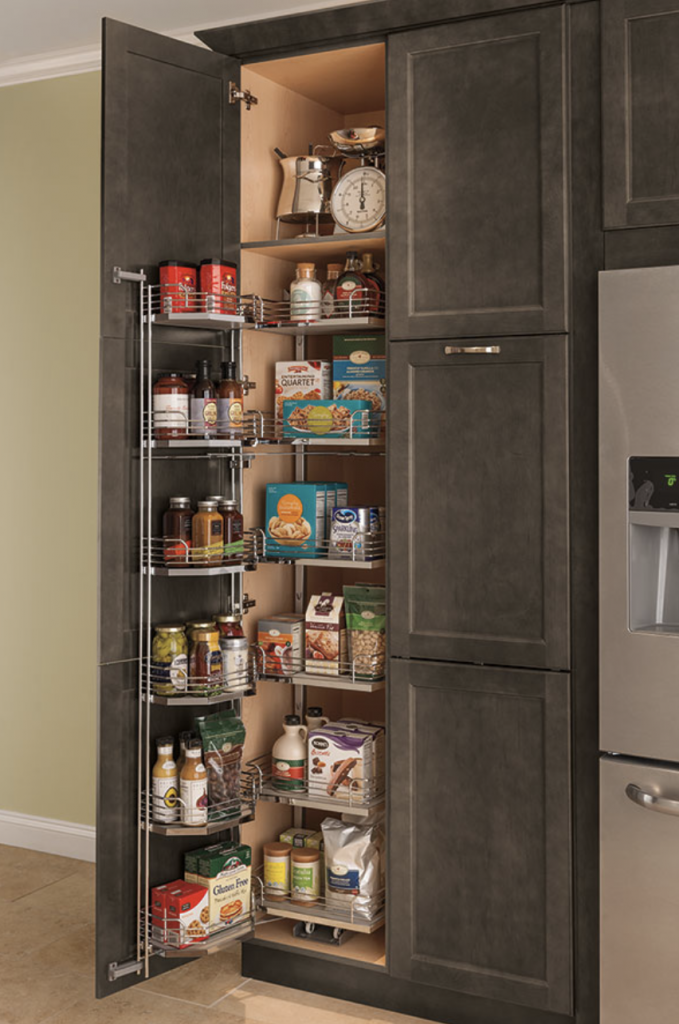 Thomasville panty with door storage and wire pull-out shelves