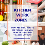 Kitchen work zones-what are they, how to set them up, and why think zones not triangles.
