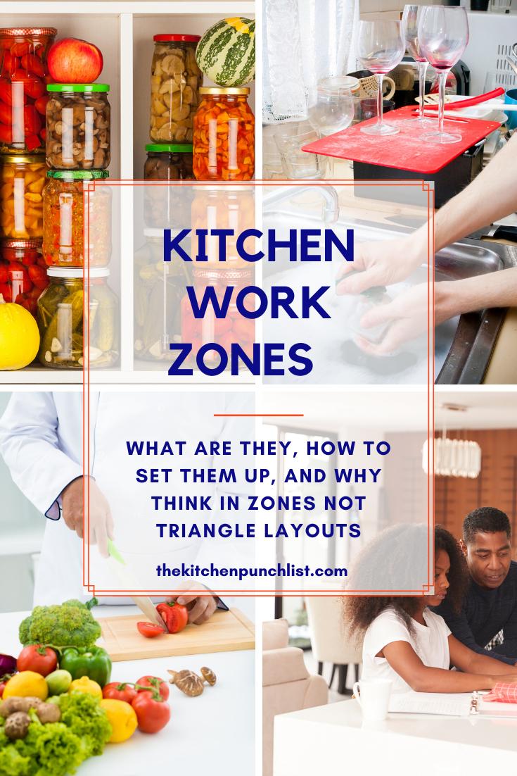 Goodbye Kitchen Triangle, Hello Kitchen Work Zones
