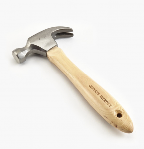 "Lee Valley 6"" pocket hammer with hickory handle"